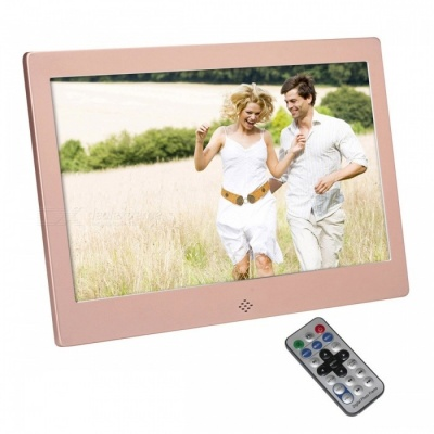 "10.1"" Digital Photo Frame w/ 16GB Memory, IR Remote - Rose Gold"