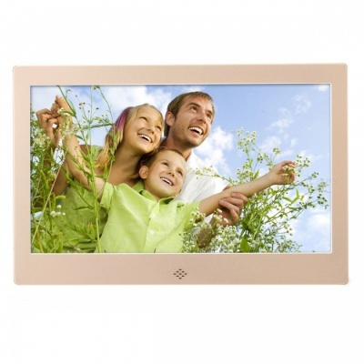 "10.1"" Digital Photo Frame 16GB Memory, IR Remote - Silver"