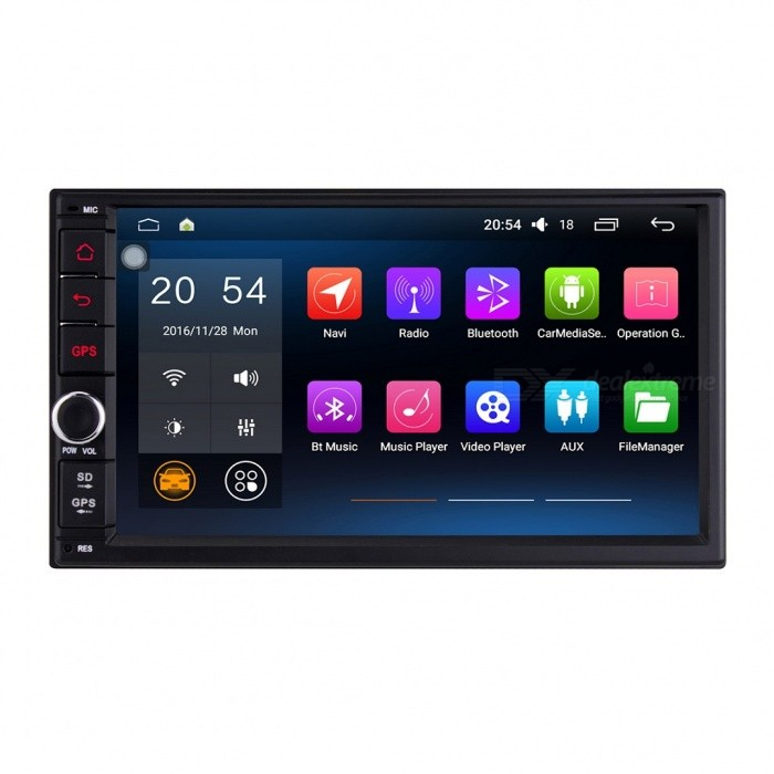 Joyous 1024 * 600 HD Quad-Core Android 5.1.1 General Car Radio Player