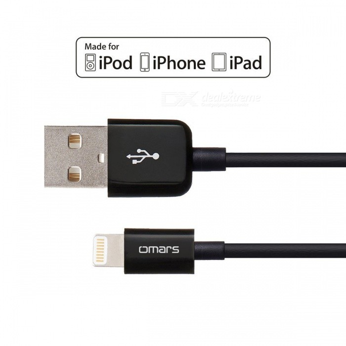 Omars MFi 3ft Lightning to USB Sync Charging Cables - Black