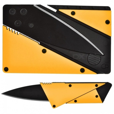 Multi-Functional Outdoor Latest Folding Card Knife - Yellow