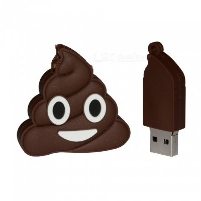Emoji Pile Of Poo Style USB 2.0 Flash Drive 32GB - Brown