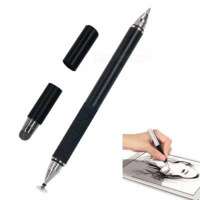 AT-16 3-in-1 Touch Screen Capacitive Pen / Write Pen - Black