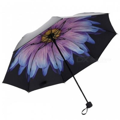 E-SMART Ultraviolet-proof Folding Pocket Sun Umbrella - Blue Purple
