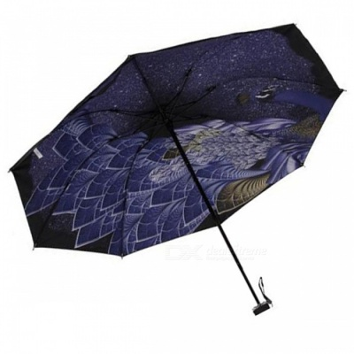 E-SMART Ultraviolet-proof Folding Pocket Sun Umbrella - Black