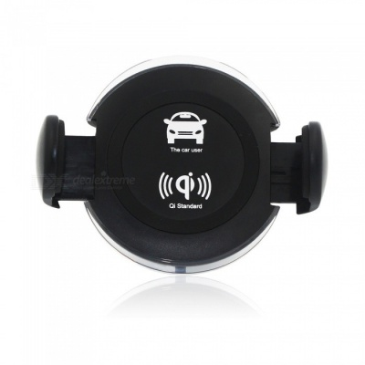 Rotatable Wireless Car Charger + Air Vent Mount w/ Suction Cup Holder
