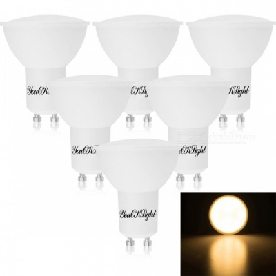YouOKLight GU10 5W 400lm Warm White LED Light Bulbs, AC 85-265V, 6PCS