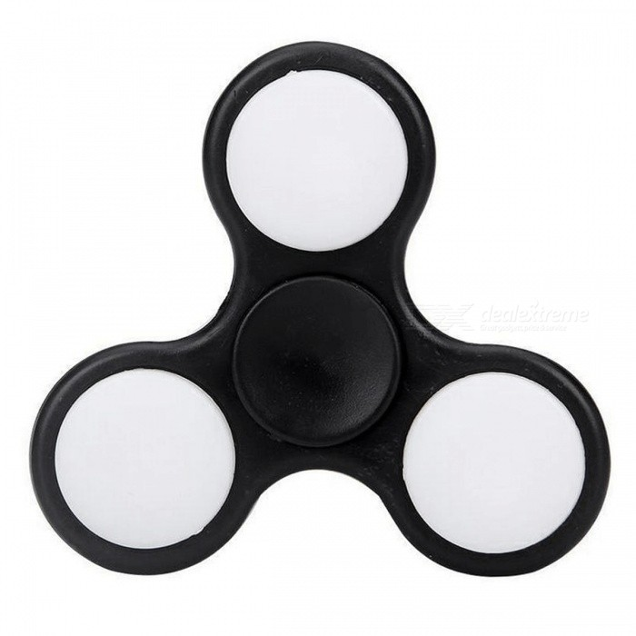 E-SMARTER Colorful Luminous Fidget Stress Relief Spinner Toy - Black