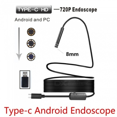 BLCR 8mm 8-LED 720P USB Type-C Android PC Endoscope (3m)