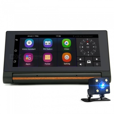 "Junsun T1 6.86"" Android 3G Car DVR GPS with FHD Camera (RU Map)"