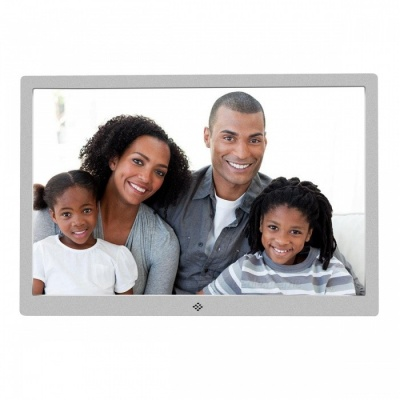 15.4 inch Digital Photo Frame 16GB Memory, US Plugs Adapter - Silver