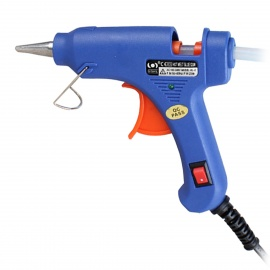20W Hot Melt Glue Gun for DIY Dolls Ornaments - Blue (EU Plug)