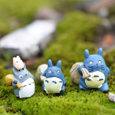 Hand DIY Garden Totoro Carrying Bag Gardening Scenery Dolls (3 PCS)
