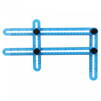 Kitbon Mechanism Multi-Angle Four-Sided Measuring Ruler for DIY - Blue