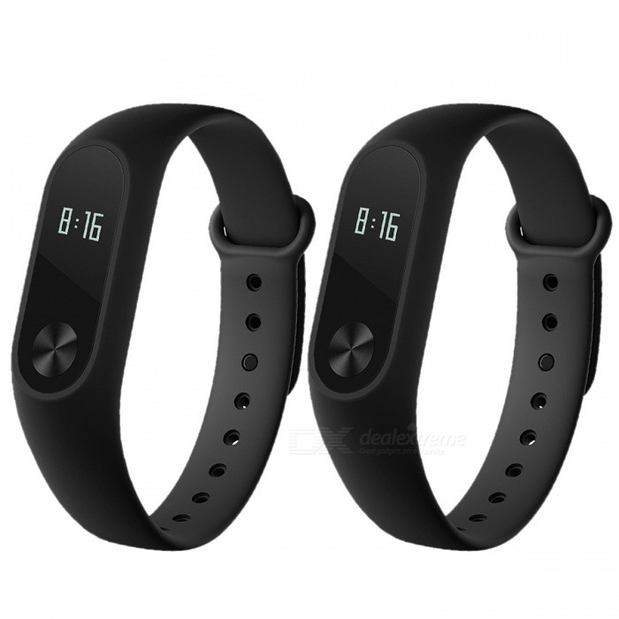"Xiaomi Mi Band 2 Smart Wristband with 0.42"" OLED Touch Screen - Black"