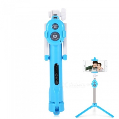 ST-13 Universal Mobile Bluetooth 3.0 Self-timer with Tripod - Blue