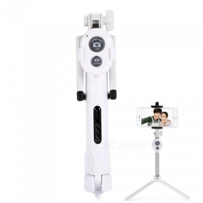 ST-13 Universal Mobile Bluetooth 3.0 Self-timer with Tripod - White