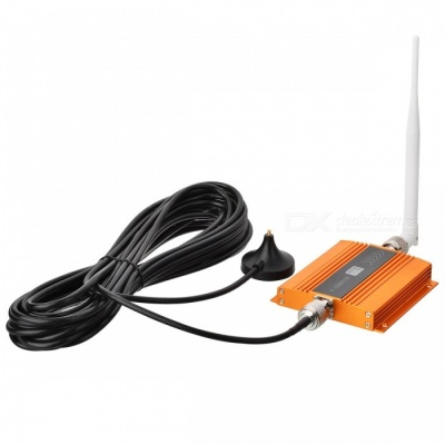 2100MHz WCDMA 3G Mobile Phone Signal Booster - Golden (EU Plug)