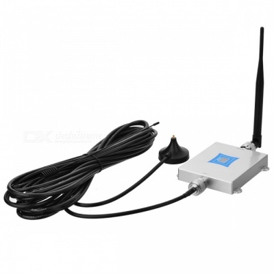 2G 3G 4G Cell Phone Signal Booster with 0.6inch LCD - Silver (EU Plug)