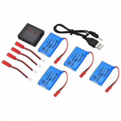 ENGPOW 3.7V 780mAh JST Lipo Battery with Charger Kit