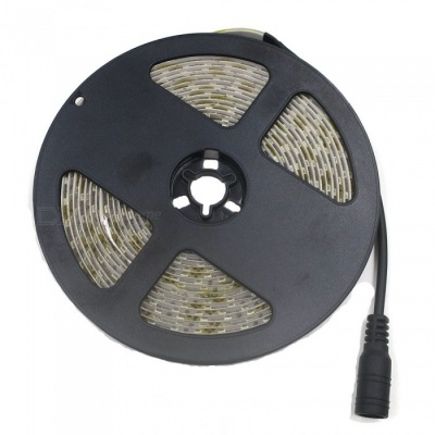 SZFC Waterproof 5m 60W 600-3528 SMD Warm White LED Strip (EU Plug)