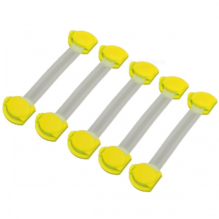P-TOP Multifunctional Baby Safe Drawer Locks - Yellow (5 PCS)