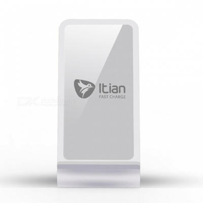 Itian A8 10W Fast Wireless Charger Stand - Silver