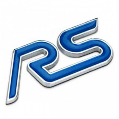 Pure Metal RS Character Sports Version Car Label Sticker - Blue