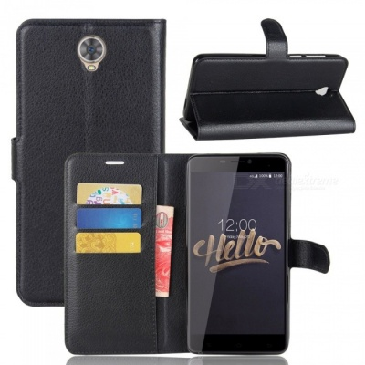 Flip Protective PU Wallet Case with Stand for Cubot Max - Black