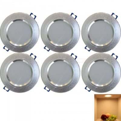 YouOKLight 7.5W Warm White LED Downlight Ceiling Lamp, AC85-265V, 6PCS