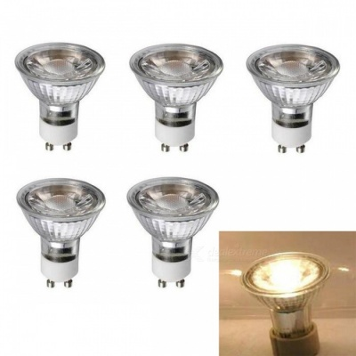 JRLED GU10 5W Warm White COB LED Spotlights (5 PCS)