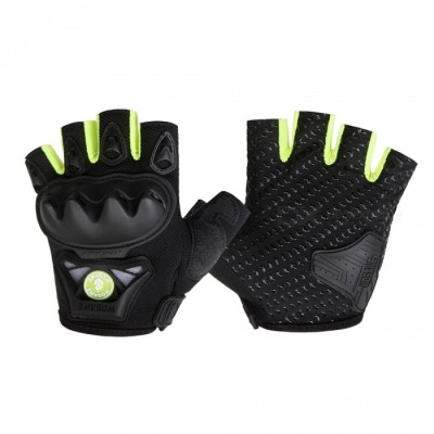 WOSAWE BST-016 Motorcycle Half-finger Tactical Gloves - Green (XL)