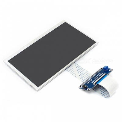 """Waveshare with Raspberry Pi 7"""" 1024x600 IPS Display Screen (No Touch)"""