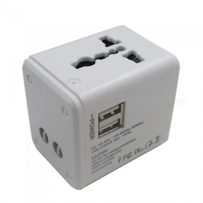 SZFC CN-158 AC Power Plug Travel Universal Charger with Dual USB Ports