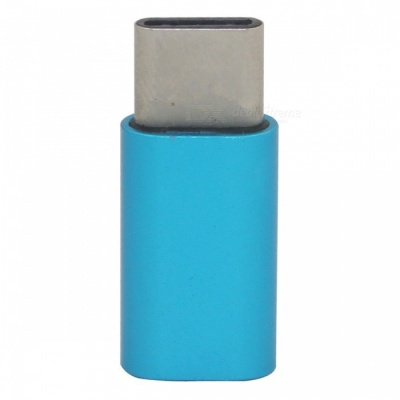Mini Smile USB 3.1 Type-C to Micro USB Data Charging Adapter - Blue