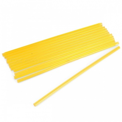 Strong Adhesive Hot Melt Glue Sticks - Light Yellow (7 x 270mm, 10pcs)