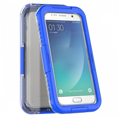 Waterproof Swimming Diving Case for Samsung Galaxy S7 - Blue