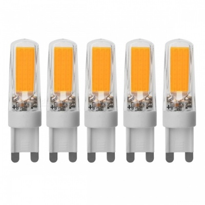 JRLED G9 5W 400lm COB LED Warm White Light Ceramic Bulbs (5 PCS)