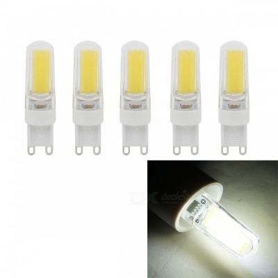 JRLED G9 5W 400lm COB LED Cold White Light Ceramic Bulbs (5 PCS)
