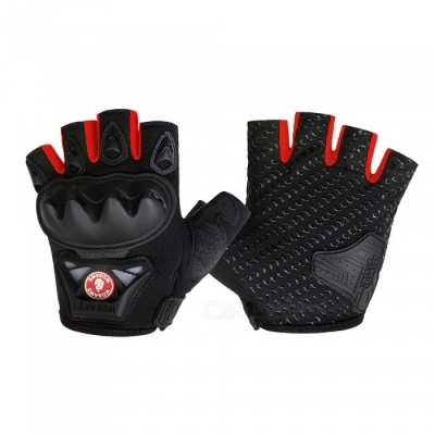 WOSAWE BST-016 Motorcycle Half-finger Tactical Gloves - Red (M)