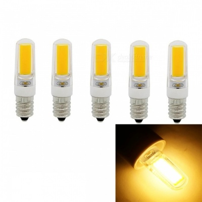 JRLED E14 5W 400lm COB LED Warm White Light Ceramic Bulbs (5 PCS)