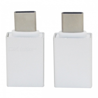 Mini Smile Type-C Male to USB 3.0 Female OTG Adapter for Huawei (2PCS)