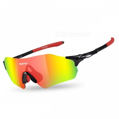 NUCKILY PA08 Outdoor Riding Anti-wind Sand-Proof Glasses - Red, Black