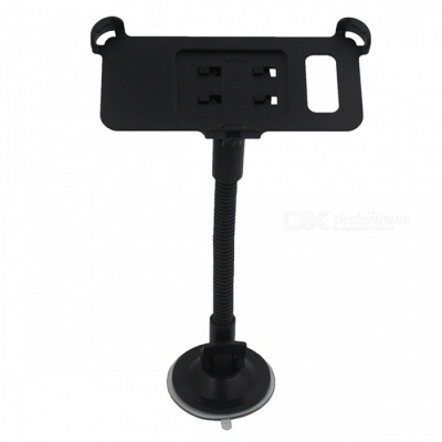Suction Cup Flexible Neck Car Mount Holder for GALAXY S8 Plus - Black