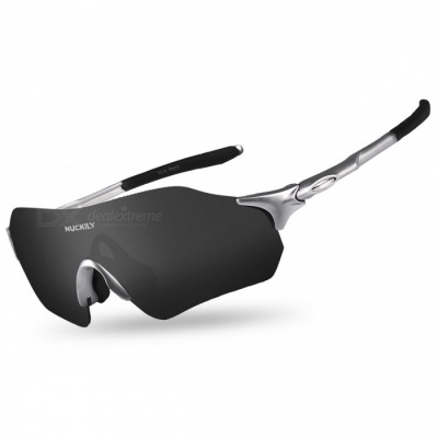 NUCKILY PA08 Outdoor Riding Anti-wind Sand-Proof Glasses - Grey, Black