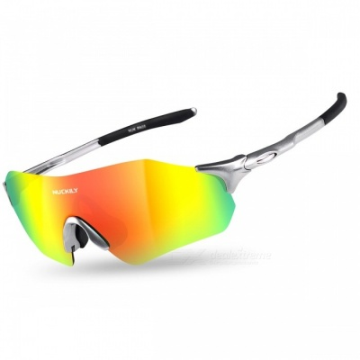 NUCKILY PA08 Outdoor Riding Sand-Proof Glasses - Black, Silvery White