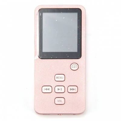 Mini Bluetooth MP3 MP4 Music Player with 8GB Storage - Rose Golden