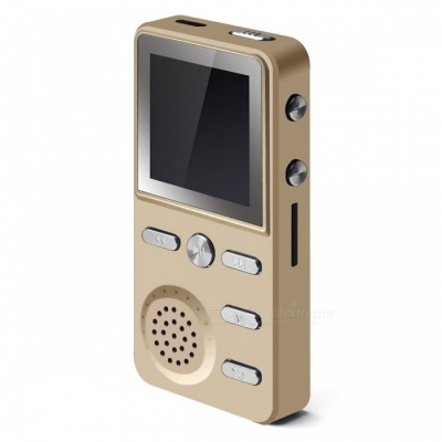 "KELIMA 1.4"" Screen 8GB Music Player MP3 with Alarm Clock - Golden"