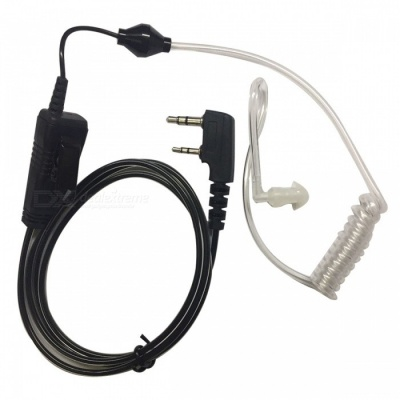 Walkie Talkie K-Head In-Ear Wired Headset with Mic - Transparent