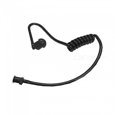 Air Duct Removable Single Ear Headset for Walkie Talkie - Black